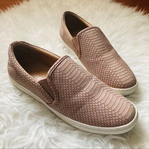 J/SLIDES Snakeskin-embossed sneakers